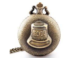 Piękny zegarek kieszonkowy ac/dc dzwon