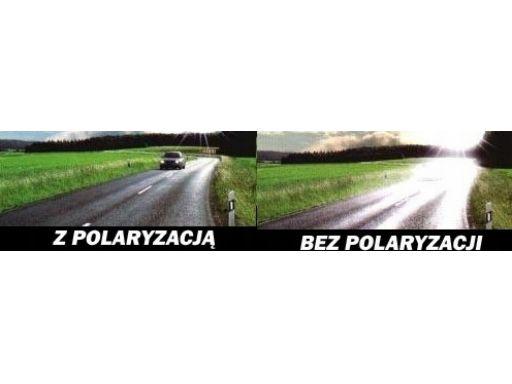 Pół ramki unisex brązowe okulary polaryzacyjne