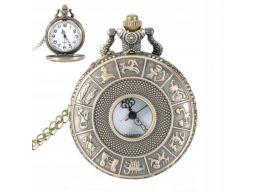 Piękny zegarek kieszonkowy zodiak