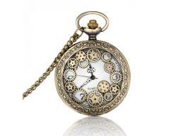 Piękny zegarek kieszonkowy mechanizm 24h pl