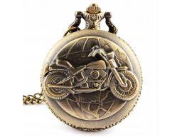 Piękny zegarek kieszonkowy motocykl motor