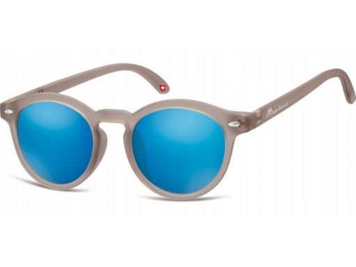 Okulary lenonki dziecięce unisex matowe lustrzanki