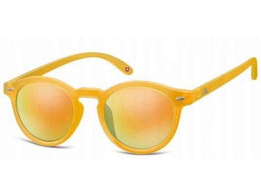 Lenonki okulary damskie męskie montana żółte revo