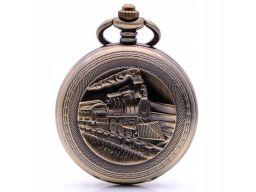 Piękny zegarek kieszonkowy lokomotywa pociąg