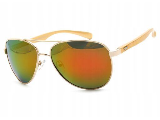 Pilotki okulary polaryzacyjne lustrzanki uniseks