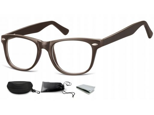 Oprawki zerówki okulary nerdy uniseks flex