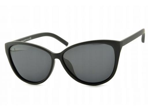 Czarne damskie okulary polaryzacyjne kocie oczy