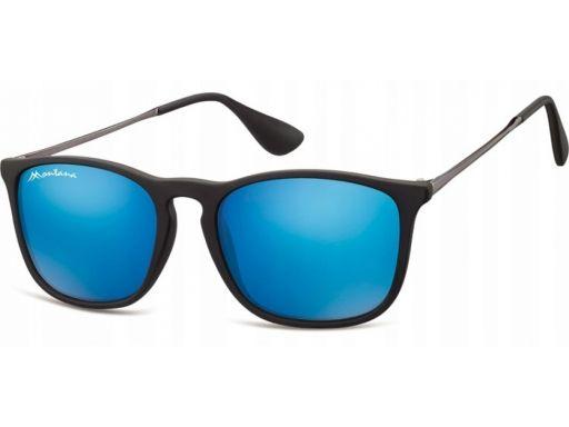 Nerdy okulary damskie męskie uv 400 czarne mat