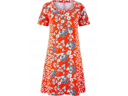 B.p.c czerwona sukienka w kwiatki 40/42.