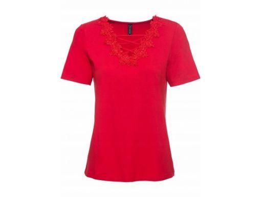 B.p.c bluzka z koronką czerwona *36/38