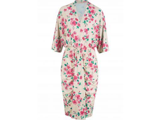 B.p.c sukienka z marszczeniami w kwiaty *52/54