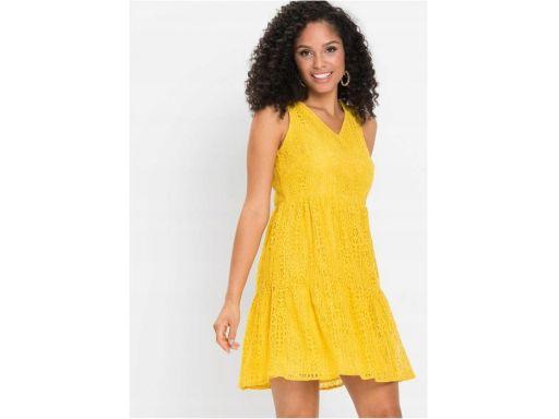 *b.p.c koronkowa żółta sukienka 46.