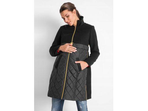 *b.p.c płaszcz ciążowy pikowany czarny 40.