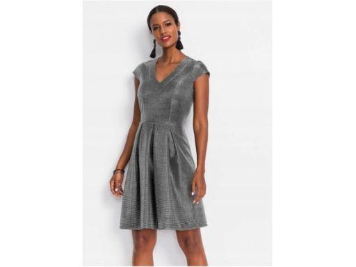 *b.p.c sukienka metaliczna srebrna r.36/38