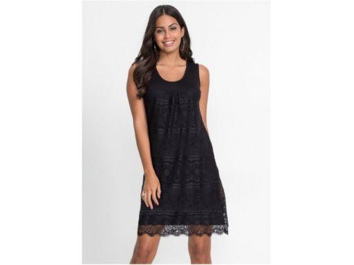 *b.p.c sukienka czarna z koronką letnia ^36/38