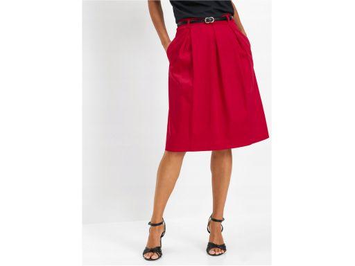 *b.p.c spódnica rozkloszowana czerwona 42.
