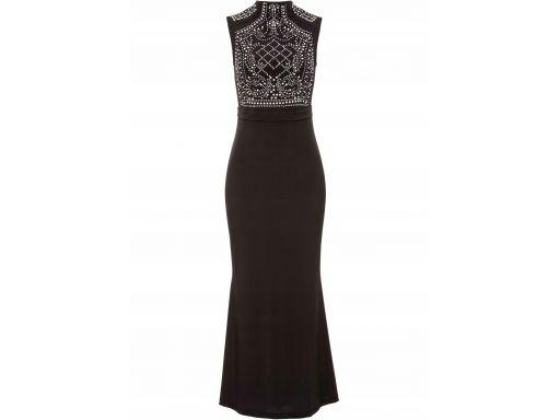 B.p.c suknia wieczorowa z dżetami czarna r.48/50