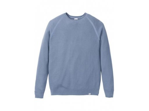 *b.p.c męski sweter bawełniany niebieski ^xl