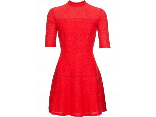 *b.p.c koronkowa czerwona sukienka 44.
