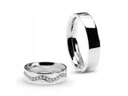Złota obrączka xbd1751 - diament