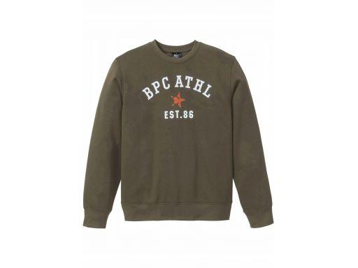 B.p.c męska bluza khaki z nadrukiem *s 44/46