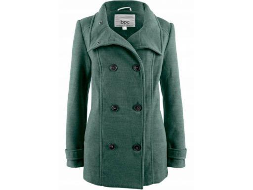 *b.p.c płaszcz dwurzędowy zielony 44.