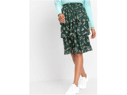 *b.p.c zielona spódnica z falbankami r.36