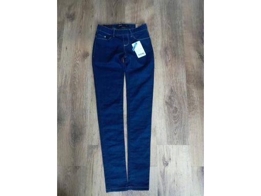 Sinasay r.8/36 s jeansy nowe rurki spodnie modne