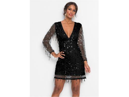 *b.p.c sukienka siateczkowa z cekinami 3d r.40