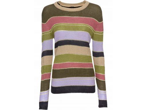 B.p.c sweter w kolorowe szerokie paski 40/42.