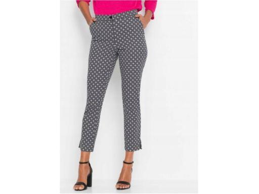 *b.p.c spodnie ze wzorem czarno-białe r.46