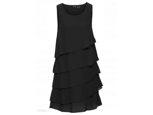 B.p.c sukienka z falbankami czarna: r. 42