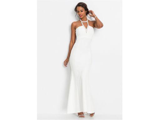 *b.p.c biała suknia wieczorowa hit r.48/50