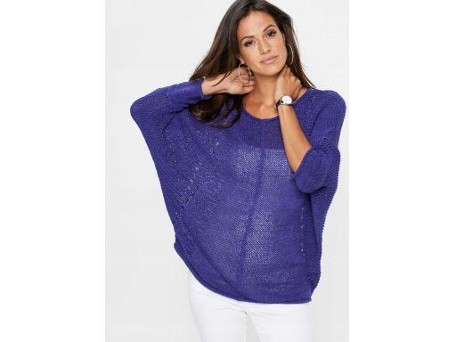 *b.p.c fioletowy sznurkowy sweter 40/42.