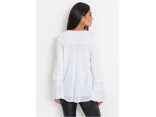 *b.p.c biała elegancka bluzka z koronką 40/42.