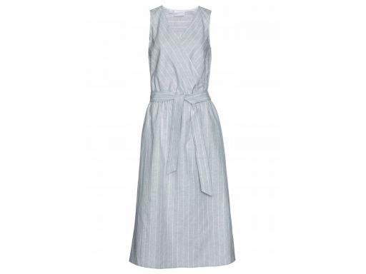 B.p.c szara lniana sukienka midi 42