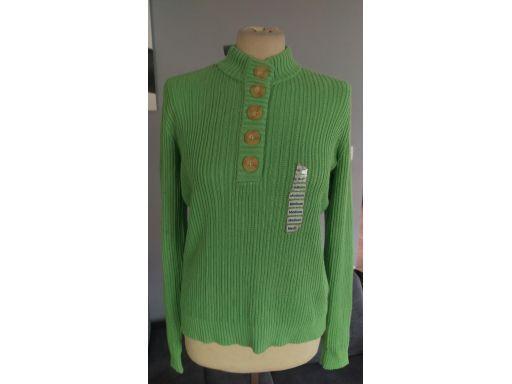Charter club r.10/38 m sweter nowy bawełna guziki