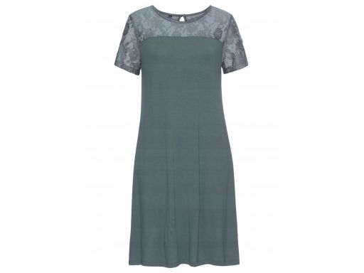 B.p.c sukienka khaki z koronką 36/38.