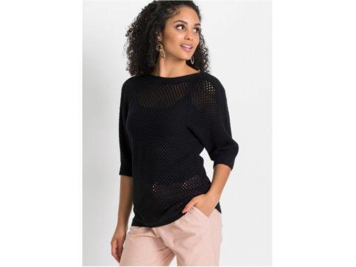 B.p.c sweter ażurowy czarny *36/38