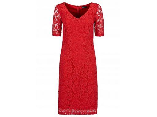 B.p.c sukienka czerwona koronkowa 40