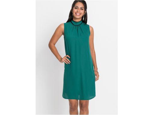 B.p.c sukienka szyfonowa morska zieleń r.36