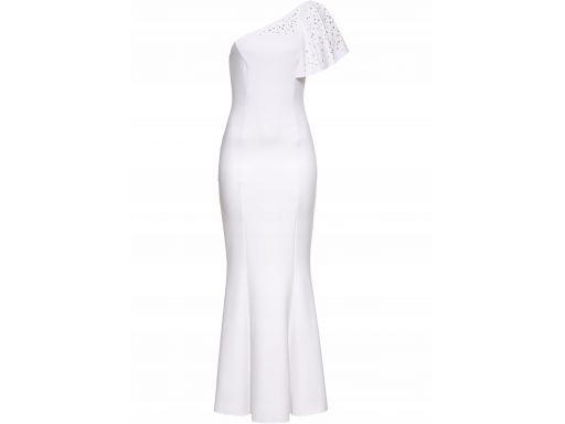 B.p.c biała długa sukienka z dżetami r.36/38