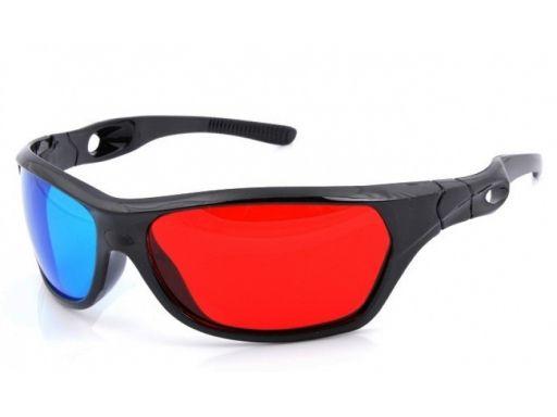 Okulary 3d red cyan anaglify 3d nvidia cinema