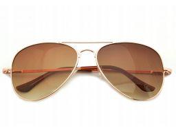 Okulary aviator przeciwsłoneczne pilotki flex