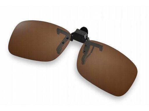 Nakładki polaryzacyjne na okulary korekcyjne brąz