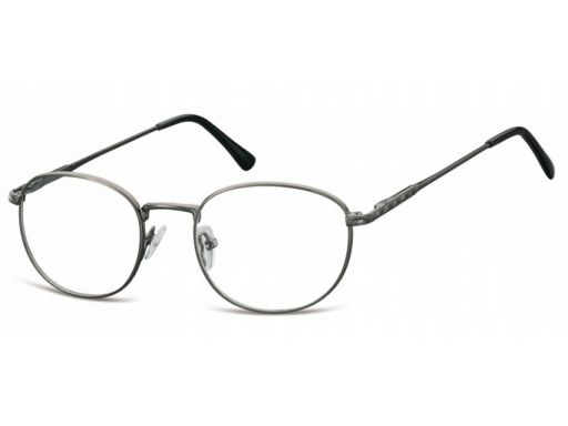Oprawki lenonki damskie korekcyjne grafit okulary