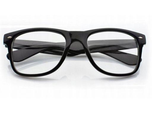 Okulary nerd zerówki uv 400 nerdy