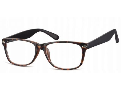 Zerówki okulary oprawki damskie męskie panterka