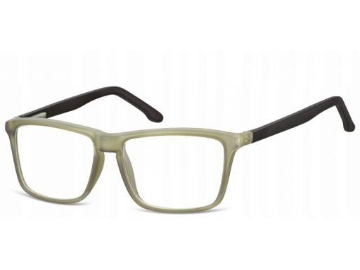 Zerówki okulary oprawki damskie męskie oliwkowe