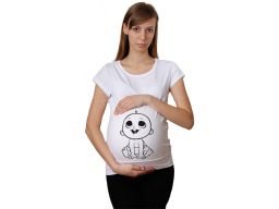 Koszulka mamuśki ciążowa nadruk t-shirt bluzka l